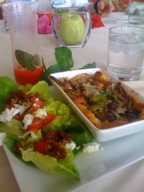 Asparagus and Mushroom Tarts with Chef Shelley's Brown Butter and Viniagrette Lettuce Salad